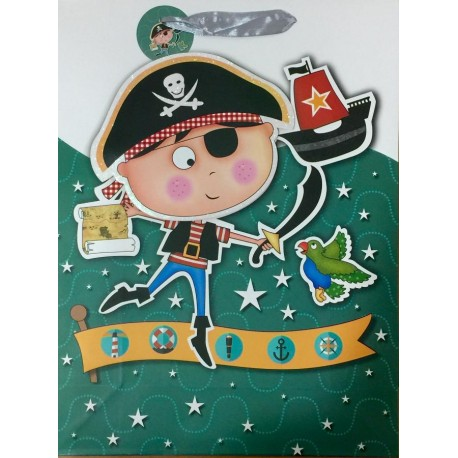 PAPER BAG SMALL - PIRATE BOY (PACK OF 12)