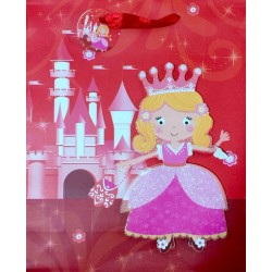 PAPER BAG SMALL - CASTLE PRINCESS (PACK OF 12)