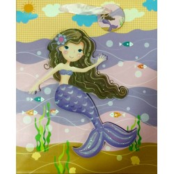 PAPER BAG MEDIUM - MERMAID IN PURPLE (PACK OF 12)