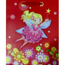 PAPER BAG MEDIUM - FAIRY IN RED (PACK OF 12)