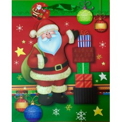 PAPER BAG MEDIUM - SANTA CLAUS (PACK OF 12)