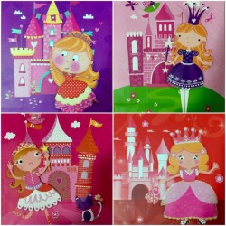 PAPER BAG MEDIUM - PRINCESS (ASSORTED - PACK OF 12)