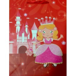 PAPER BAG LARGE - PRINCESS ON BED (PACK OF 12)