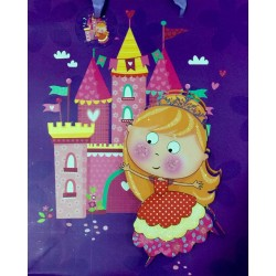 PAPER BAG LARGE - PRINCESS IN PURPLE (PACK OF 12)