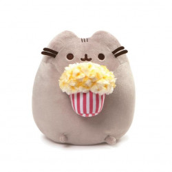 Pusheen by Gund PUSHEEN Snackables Popcorn Cat Plush Stuffed Animal