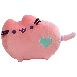Pusheen by Gund Pusheen Pastel Heart Cat Plush, Pink 12- inches