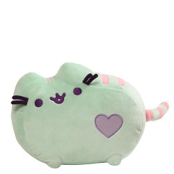 Pusheen by Gund Pusheen Pastel Heart Cat Plush, Mint 12- inches