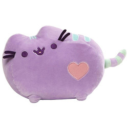 Pusheen by Gund Pusheen Pastel Heart Cat Plush, Purple 12- inches