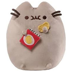 Pusheen by Gund Snackables Sprinkled Potato Chip Cat Plush Stuffed, 9.5″