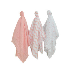 Enfant Bamboo Cotton Swaddle Blanket -3pc Set