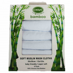 ENFANT BAMBOO COTTON WASH CLOTH (6PCS)