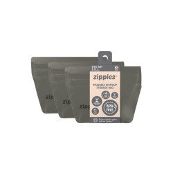 Zippies Ssteel Grey Reusable Storage Bags - Small