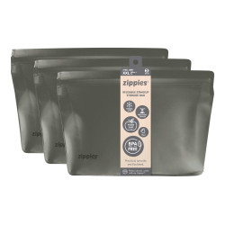 Zippies Ssteel Grey Reusable Storage Bags - XXL