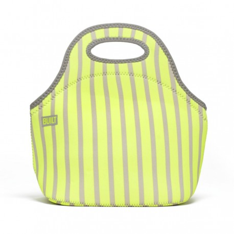 Built NY Gourmet Getaway Lunch Tote - Neon Stripe Lime