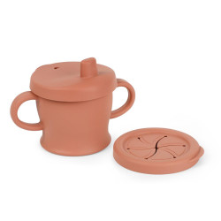 Haakaa Silicone Sip-N-Snack Cup (250ml) - Rust