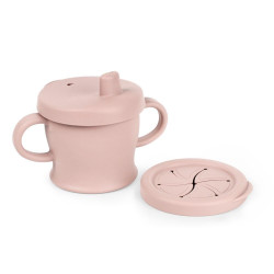 Haakaa Silicone Sip-N-Snack Cup (250ml) - Blush