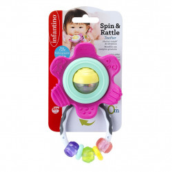 Infantino Spin & Rattle Teether- Pink™