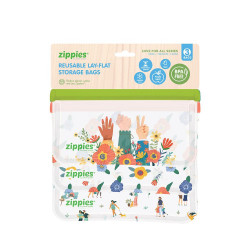 Zippies Love for All Reusable Storage Bags