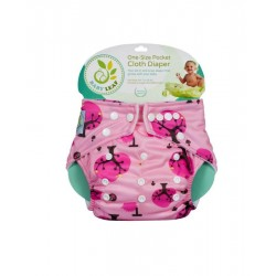 Baby Leaf One-Size Pocket Cloth Diaper - Cherry Blossom