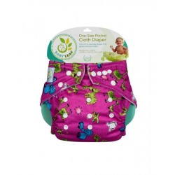 Baby Leaf One-Size Pocket Cloth Diaper - Pink Safari