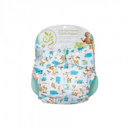 Baby Leaf One-Size Pocket Cloth Diaper - Hippo