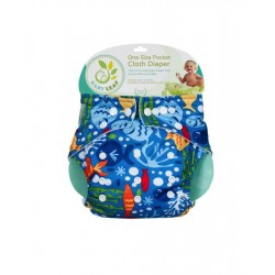 Baby Leaf One-Size Pocket Cloth Diaper - Under the Sea