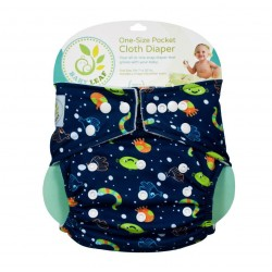 Baby Leaf One-Size Pocket Cloth Diaper - Blue Ocean