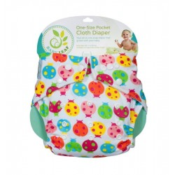 Baby Leaf One-Size Pocket Cloth Diaper - Ladybug