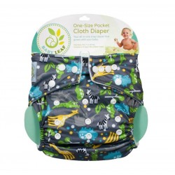 Baby Leaf One-Size Pocket Cloth Diaper - Animal Jungle