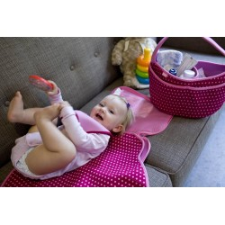 Diaper Buddy Changing PadBaby - Pink Mini Dots