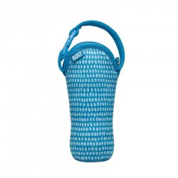 BUILT NY One Bottle Tote - Dribble Dots Blue