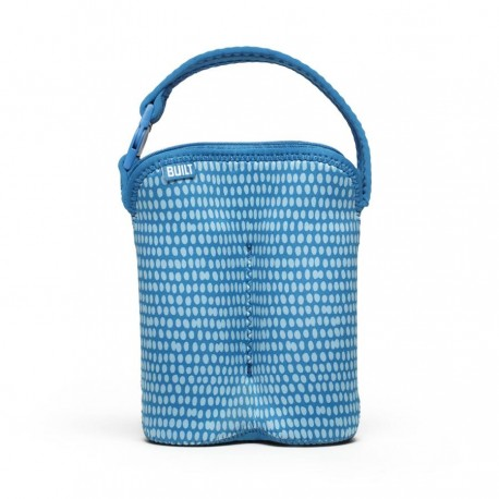 BUILT NY Two Bottle Tote - Dribble Dots Blue