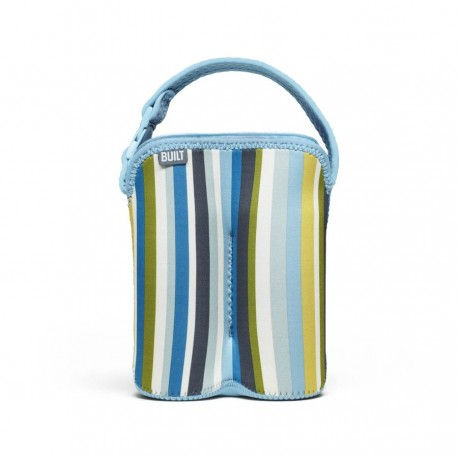 BUILT NY Two Bottle Tote - Baby Blue Stripe