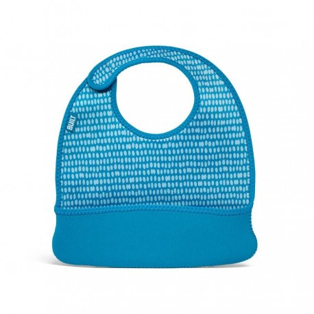 BUILT NY Baby Mess Mate Toddler Bib (2-pc set) - Dribble Dots Blue