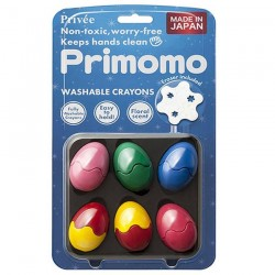 Primomo Non-Toxic Washable Crayon Egg 6 Colours