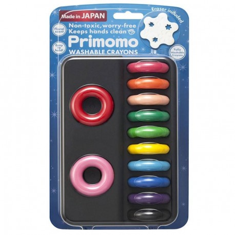 Primomo Non Toxic Washable Crayon Ring 12 Colours