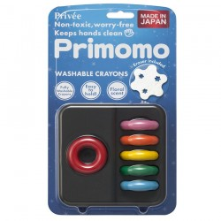 Primomo Non Toxic Washable Crayon Ring 6 Colours