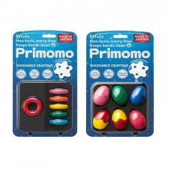 Primomo Non-Toxic Washable Crayon Egg and Crayon Ring Bundle - 1