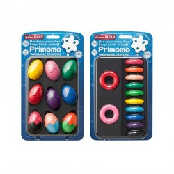 Primomo Non-Toxic Washable Crayon Egg and Crayon Ring Bundle - 2