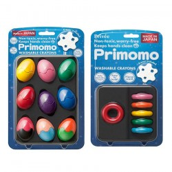 Primomo Non-Toxic Washable Crayon Egg and Crayon Ring Bundle - 3