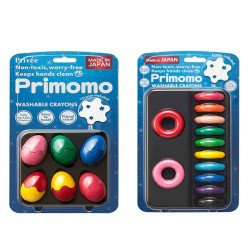 Primomo Non-Toxic Washable Crayon Egg and Crayon Ring Bundle - 4