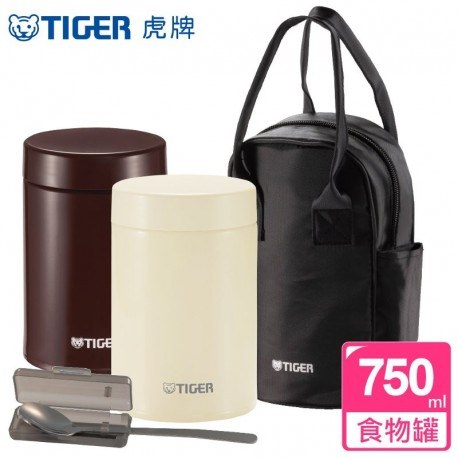 Tiger Stainless Steel Food Jar (0.75L) - Cocoa Brown