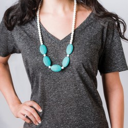 Nixi Teething Necklace / Sasso / Turquoise