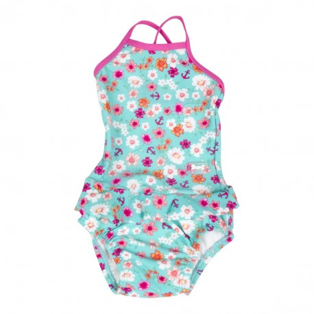 Banz Swimsuit with Frills - Floral