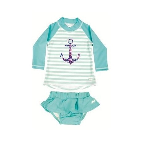 Banz 2pc Longsleeve Swimsuit - Anchor