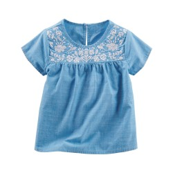 OshKosh B'Gosh Embroidered Chambray Top
