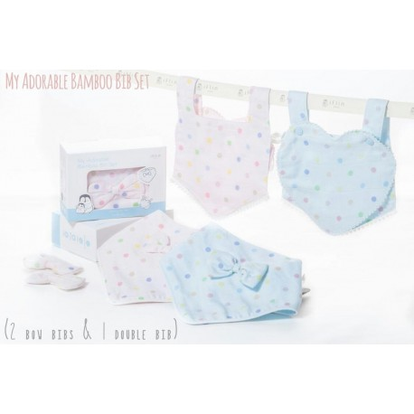 My Adorable Bib Set - Blue