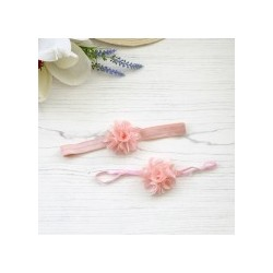 Mini Silk Rio Single on Soft Elastic - Light Peach Band