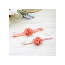 Mini Silk Rio Single on Soft Elastic - Peach Band