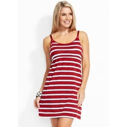 MAMAWAY Stripped Singlet Nursing Dress with Built-in Bra
